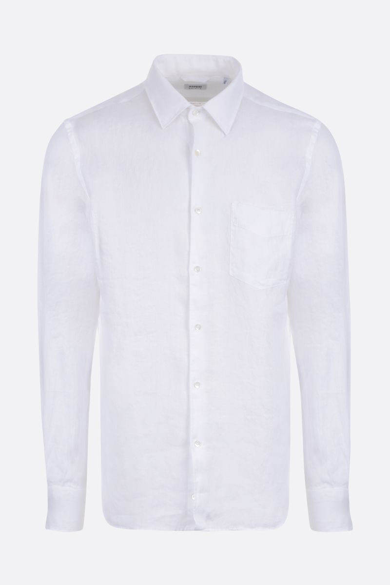 ASPESI: Sedici linen shirt Color White_1