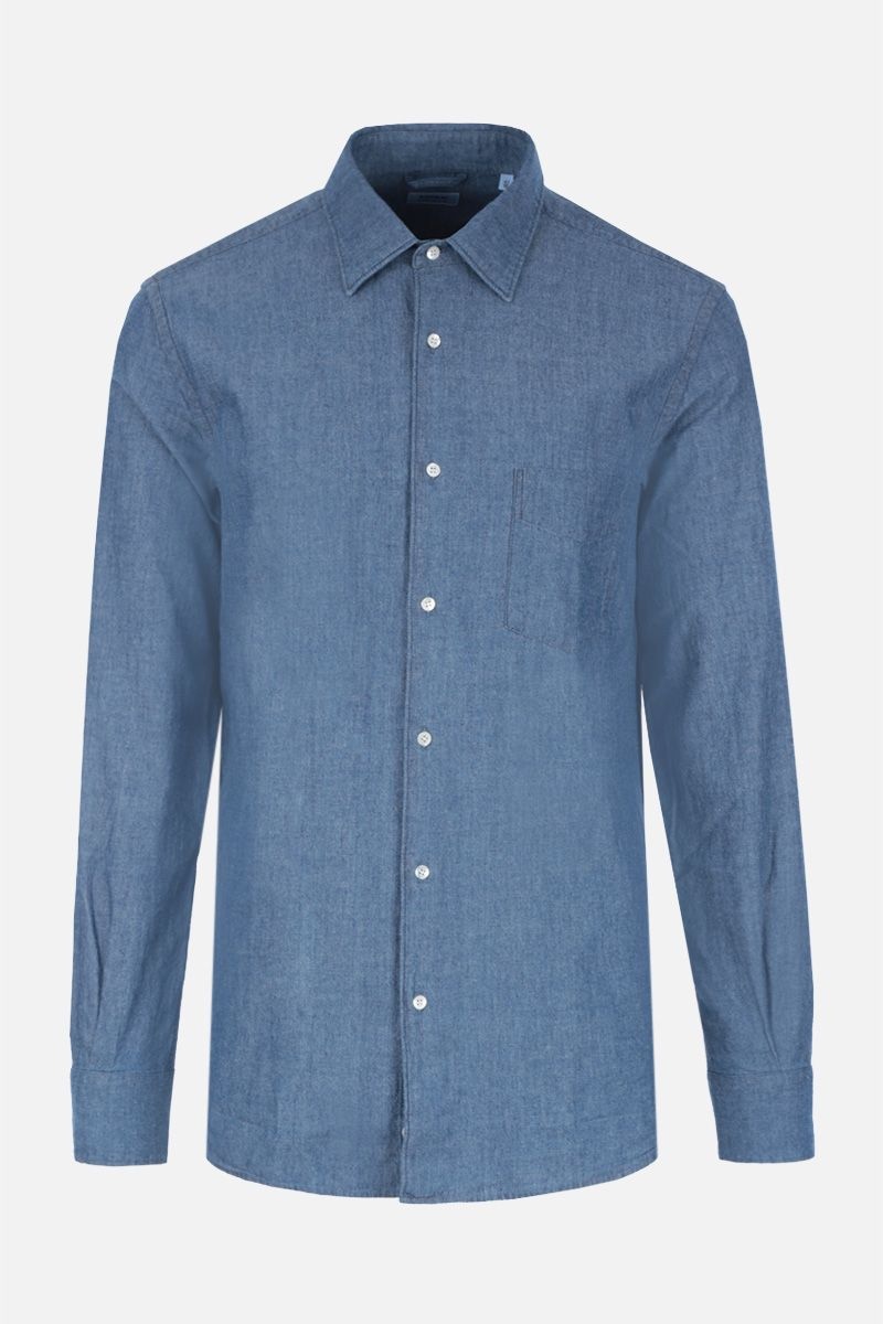 ASPESI: Sedici shirt in cotton chambray_1