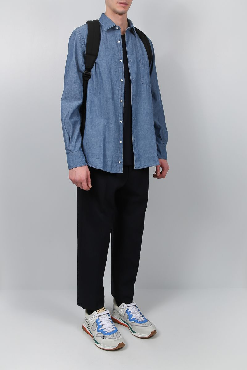 ASPESI: Sedici shirt in cotton chambray_2