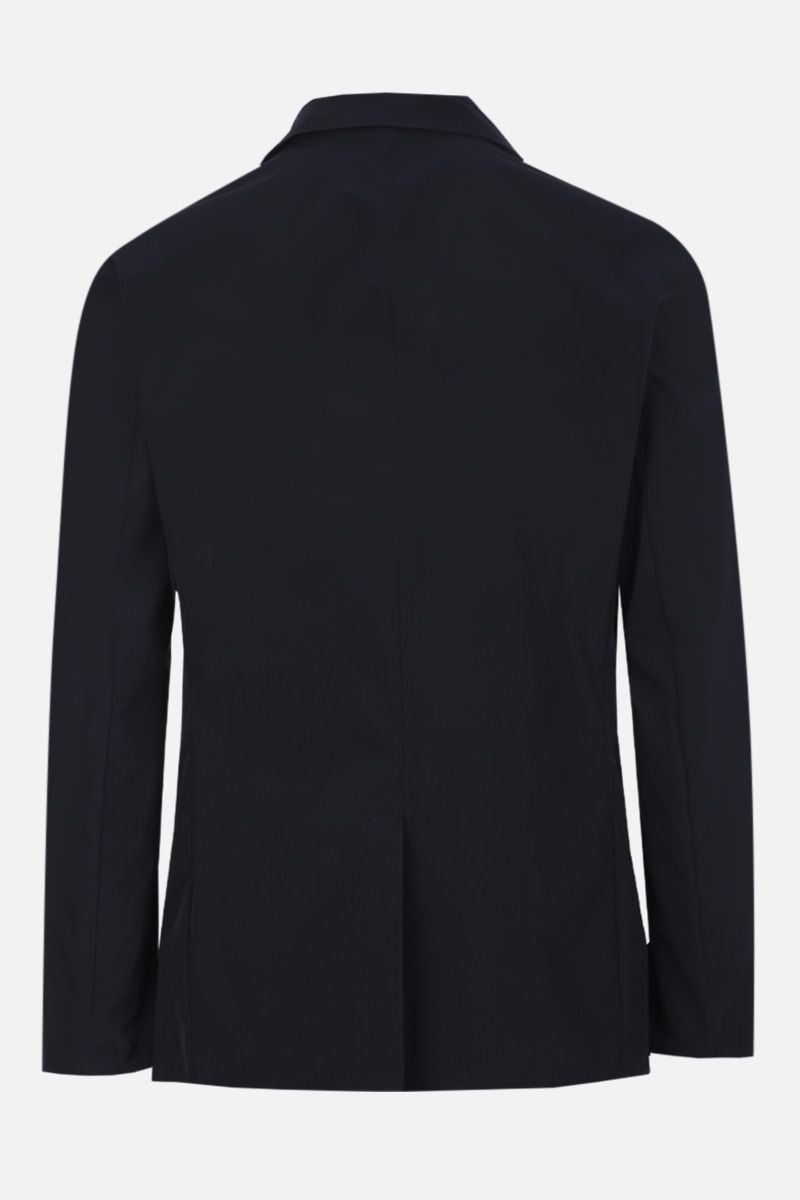 ASPESI: Paperino single-breasted jacket in lightweight nylon Color Blue_2