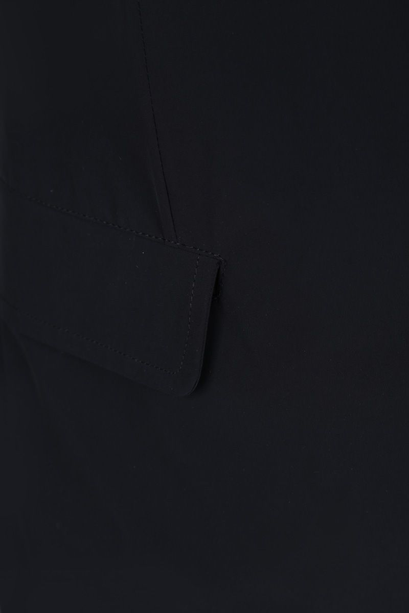 ASPESI: Paperino single-breasted jacket in lightweight nylon Color Blue_3