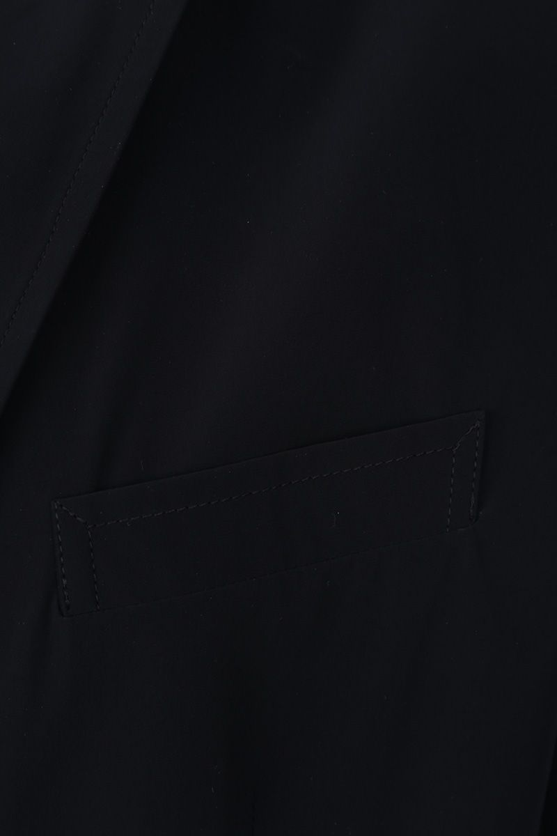 ASPESI: Paperino single-breasted jacket in lightweight nylon Color Blue_4