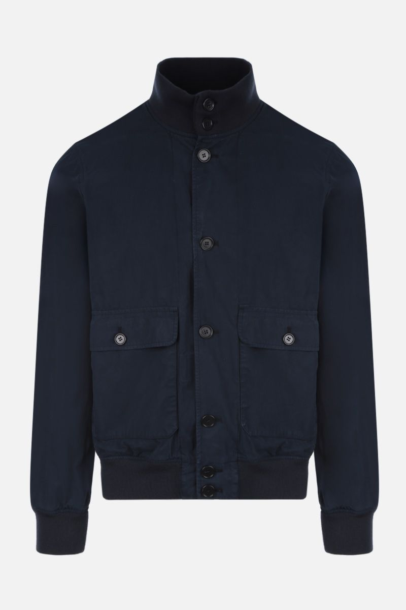 ASPESI: Astor bomber jacket in cotton Color Blue_1