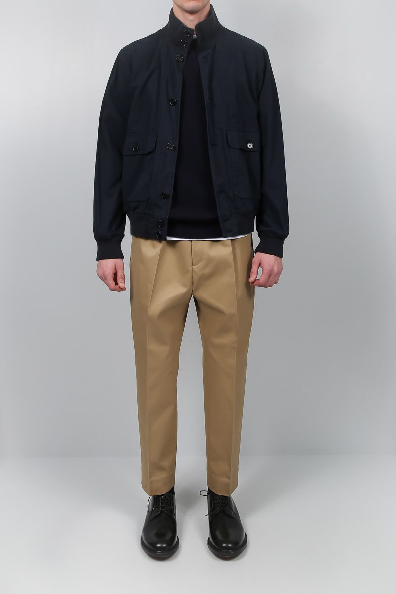 ASPESI: Astor bomber jacket in cotton Color Blue_2