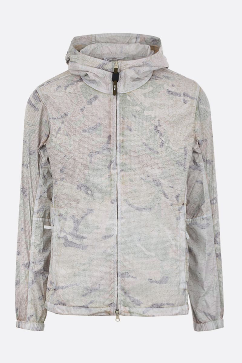 ASPESI: Freccia Summer windbreaker in camouflage nylon Color White_1