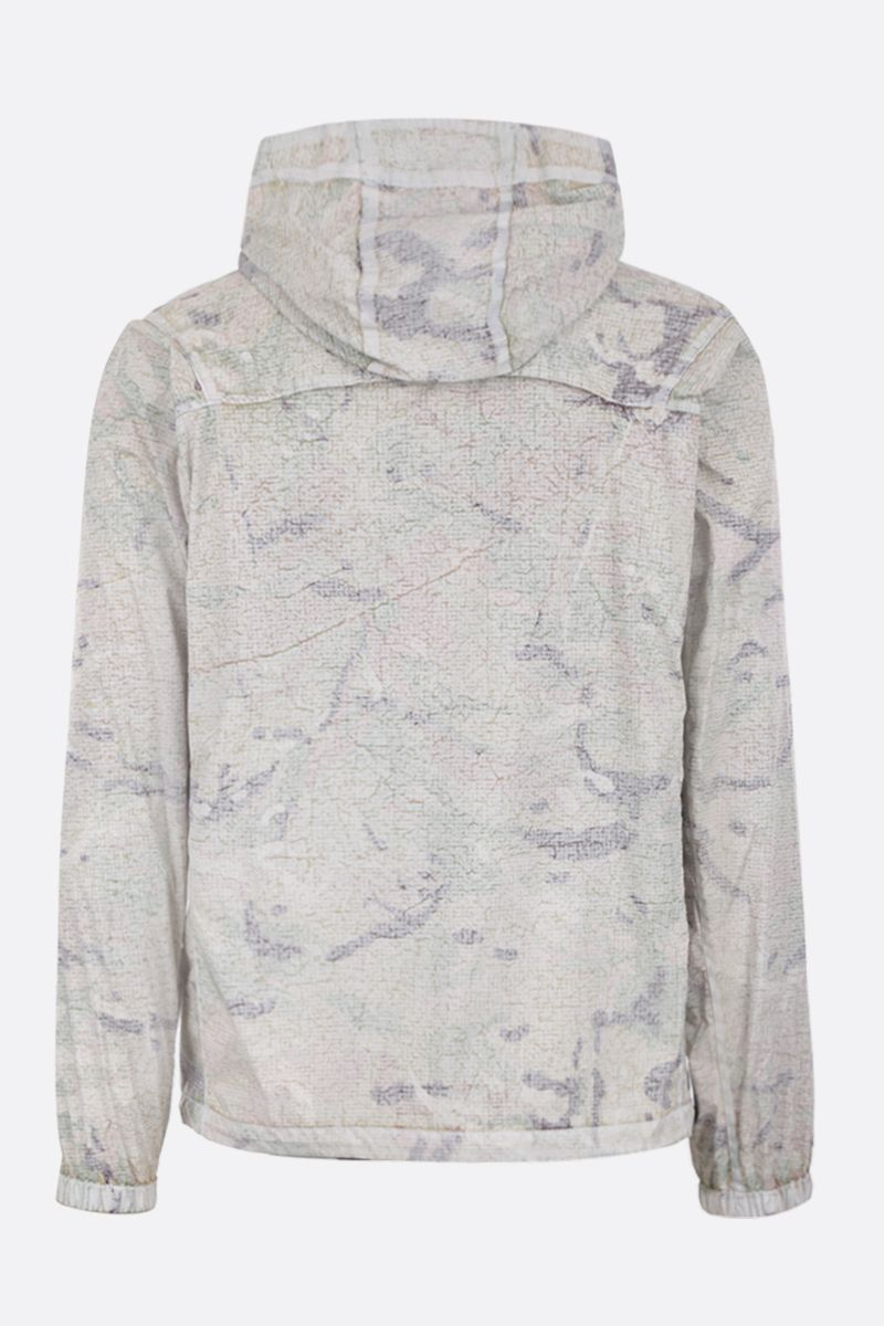 ASPESI: Freccia Summer windbreaker in camouflage nylon Color White_2