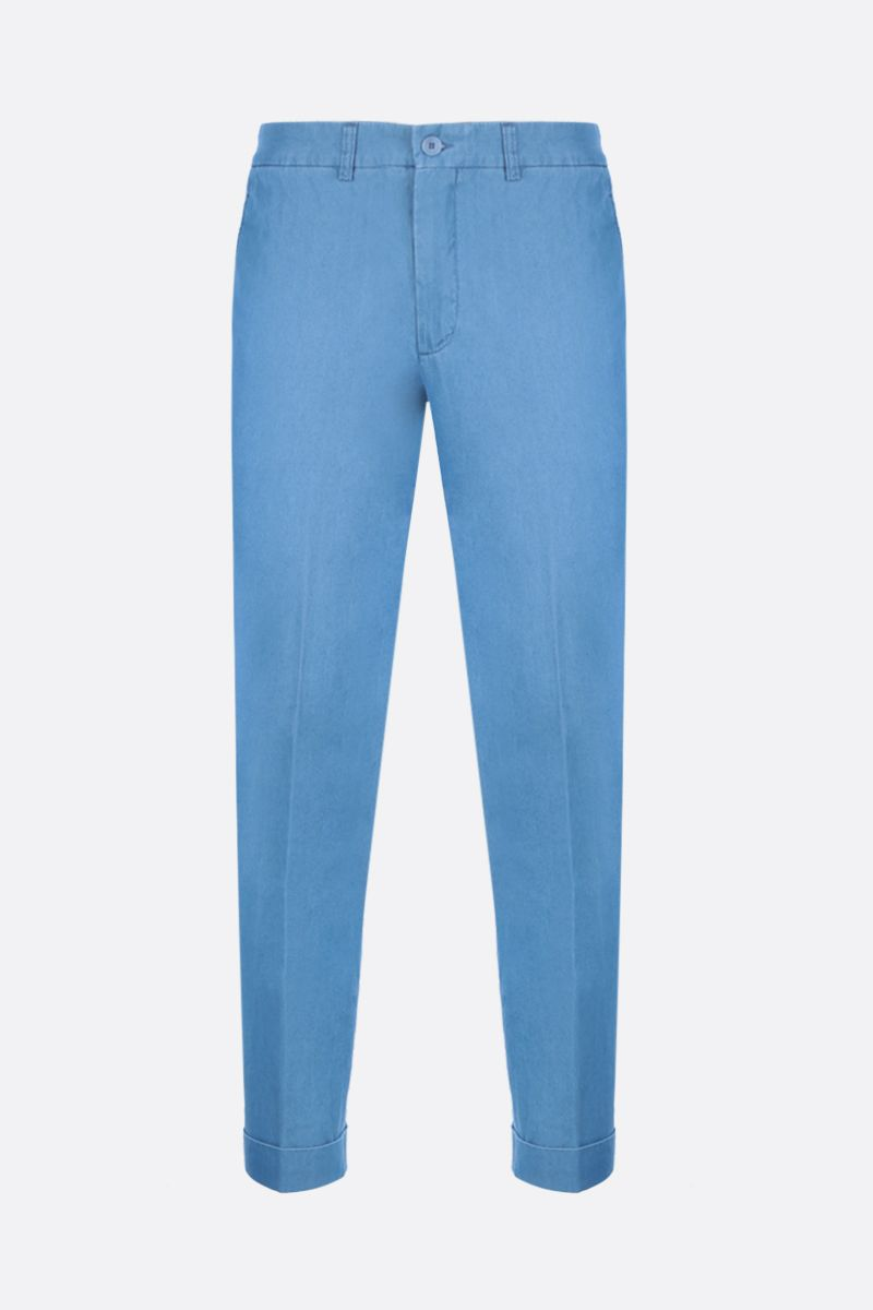 ASPESI: Dover chino pants in cotton Color Blue_1