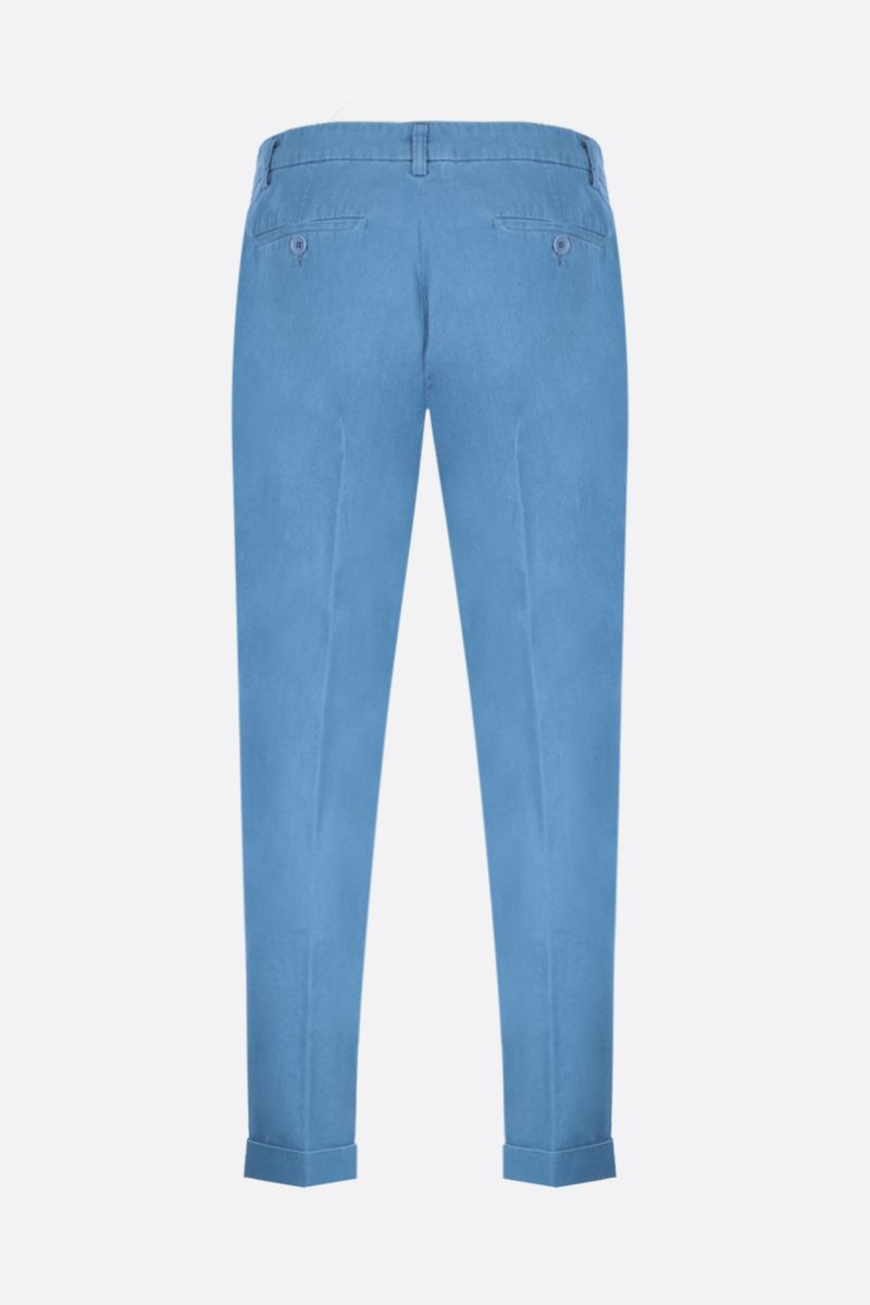 ASPESI: Dover chino pants in cotton Color Blue_2
