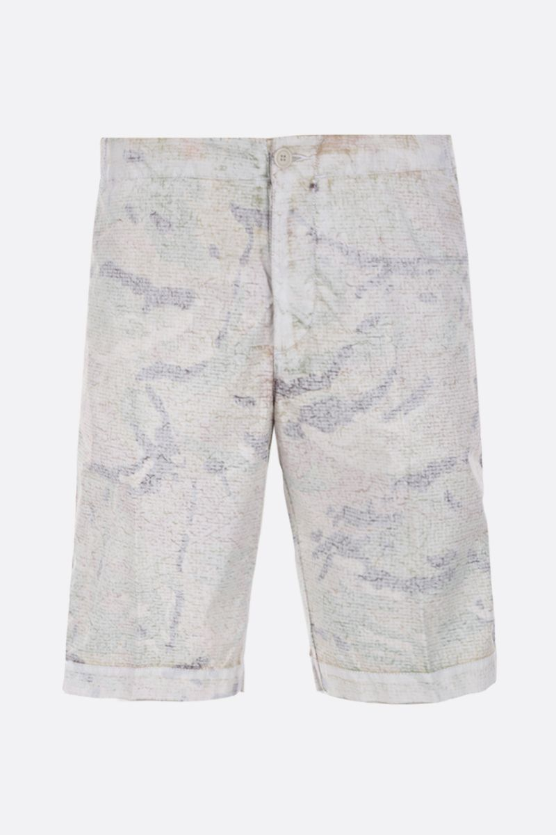 ASPESI: camouflage-print nylon shorts Color White_1