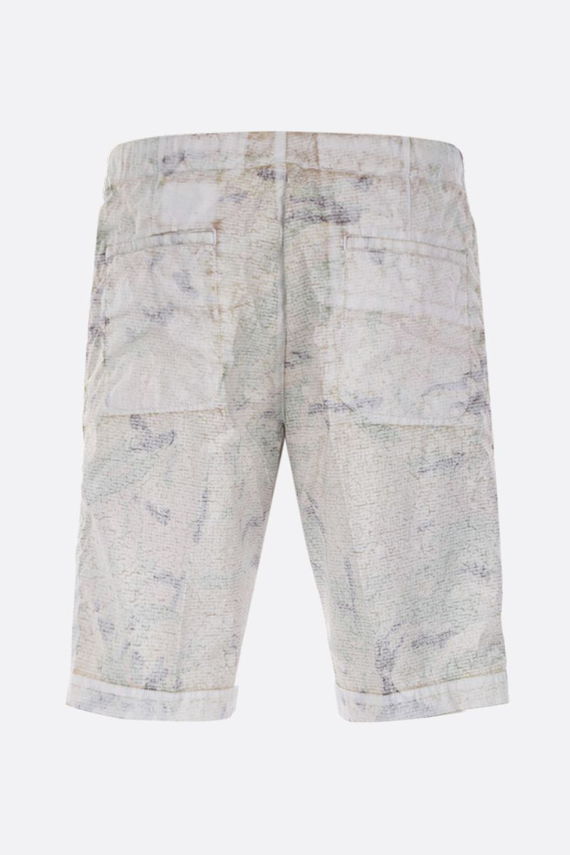 ASPESI: camouflage-print nylon shorts Color White_2