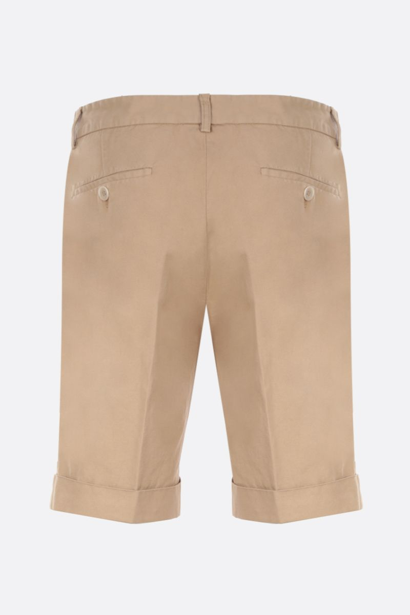ASPESI: Dover shorts in cotton linen blend Color Neutral_2