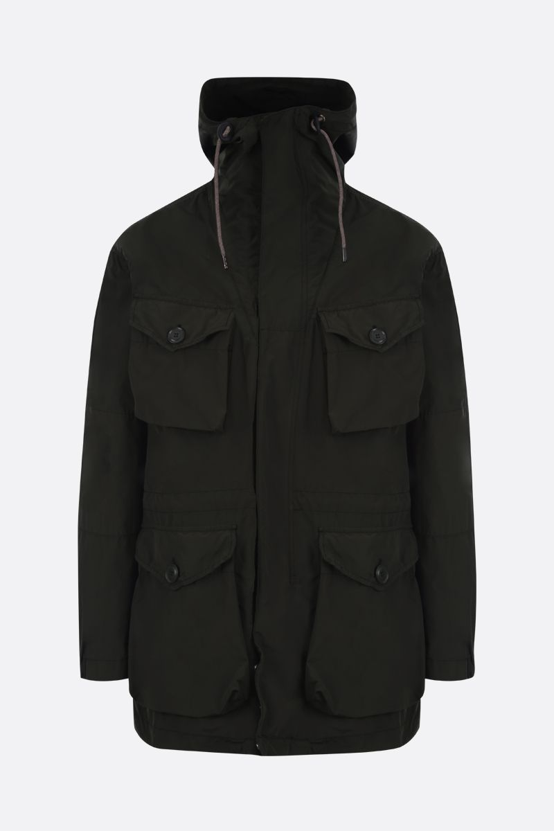 ASPESI: Smock technical fabric parka Color Green_1