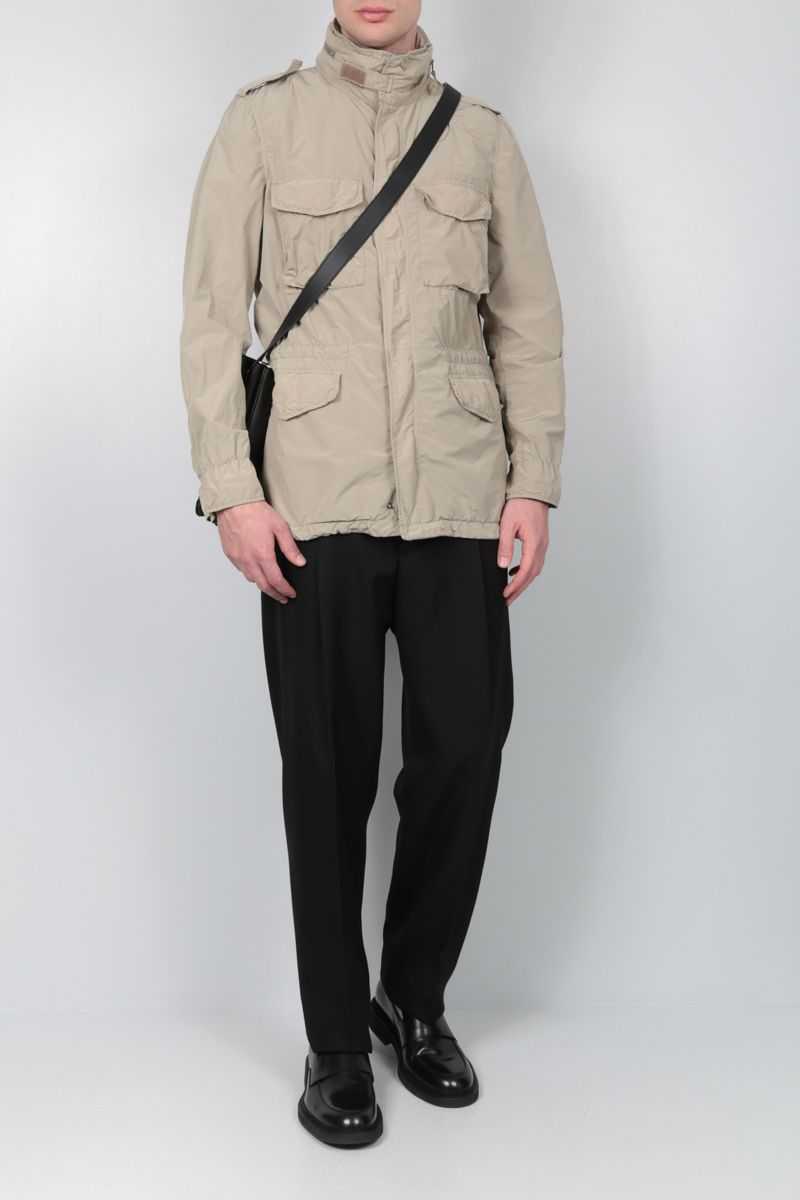 ASPESI: Replica technical fabric safari jacket Color Neutral_2