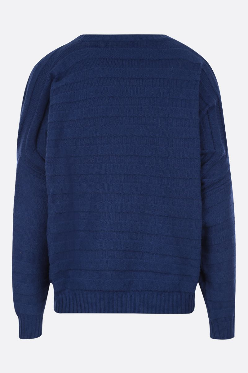 ASPESI: cotton blend oversized pullover Color Blue_2