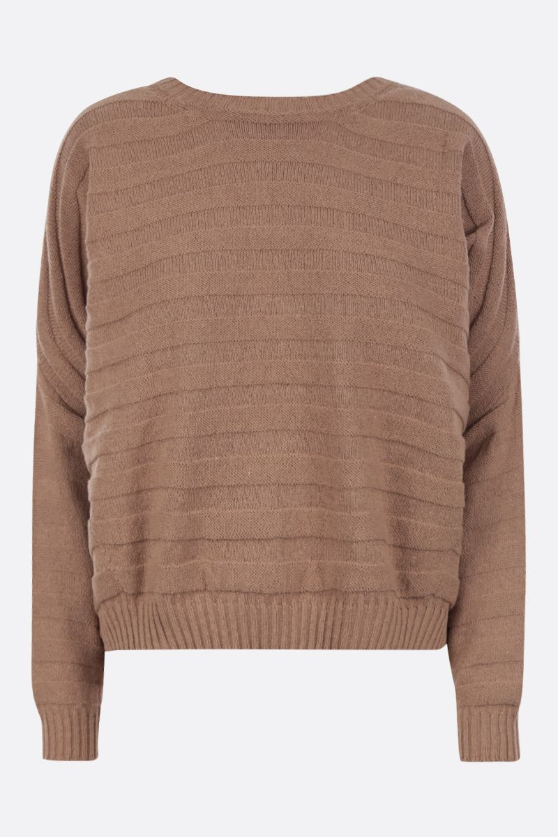 ASPESI: cotton blend oversized pullover Color Brown_1