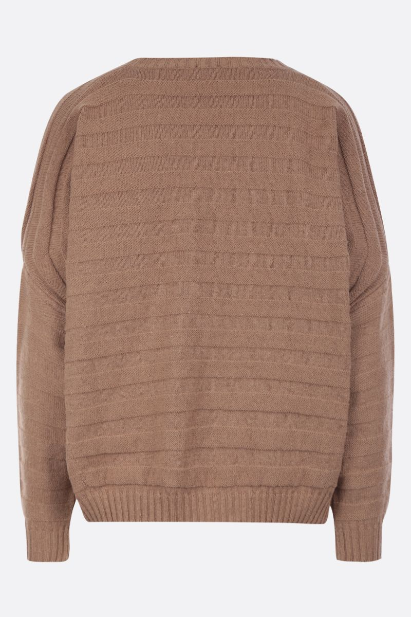 ASPESI: cotton blend oversized pullover Color Brown_2