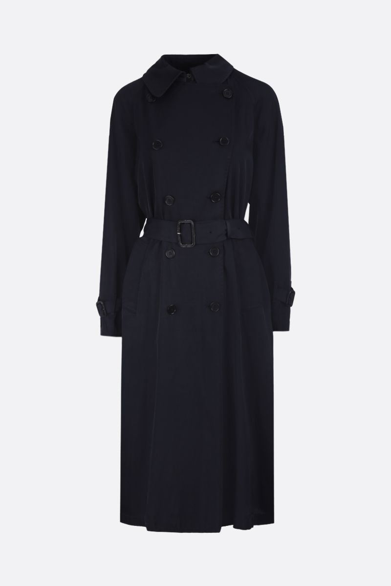 ASPESI: viscose jersey double-breasted trench coat Color Blue_1
