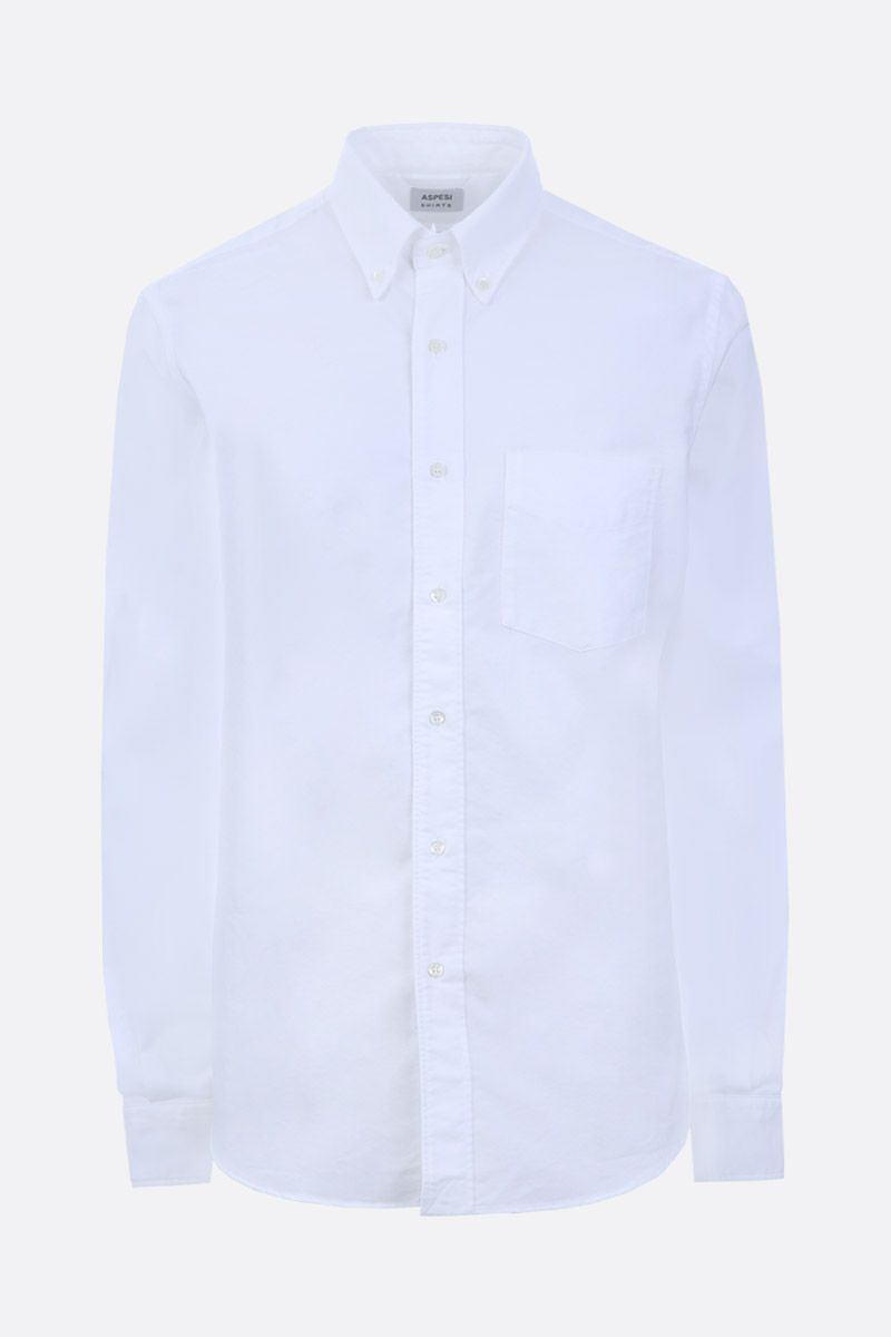 ASPESI: slim-fit oxford shirt Color White_1