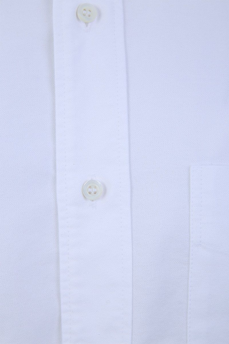 ASPESI: slim-fit oxford shirt Color White_3