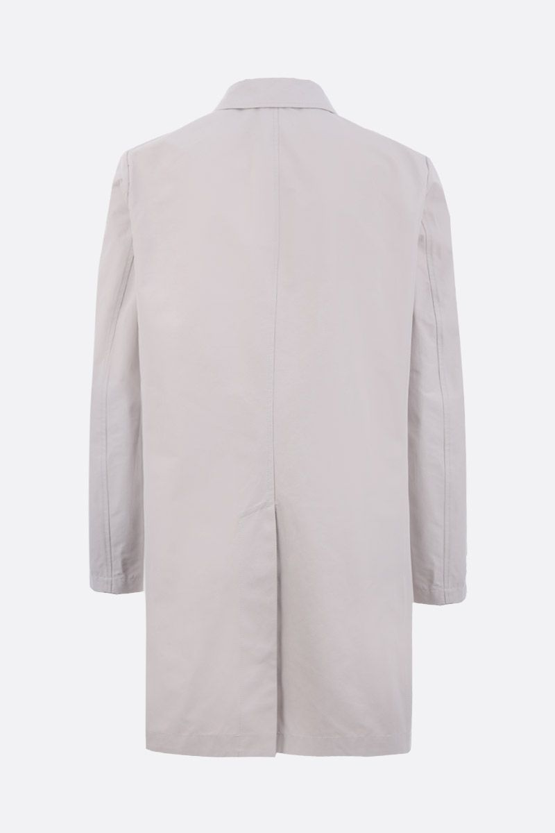 ASPESI: Lemon single-breasted overcoat in technical canvas Color Neutral_2