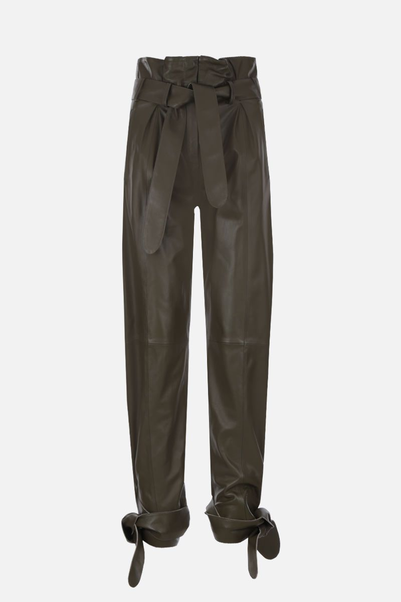 THE ATTICO: nappa leather carrot-fit pants Color Green_1