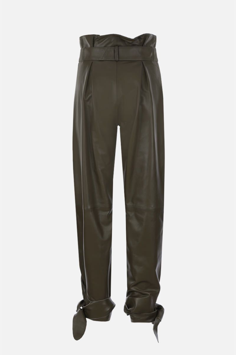 THE ATTICO: nappa leather carrot-fit pants Color Green_2