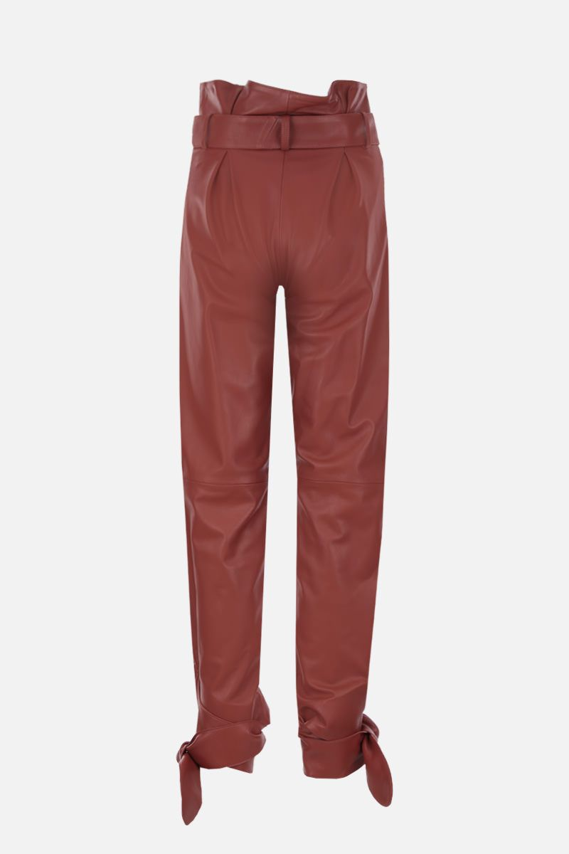 THE ATTICO: nappa leather carrot-fit pants Color Brown_2