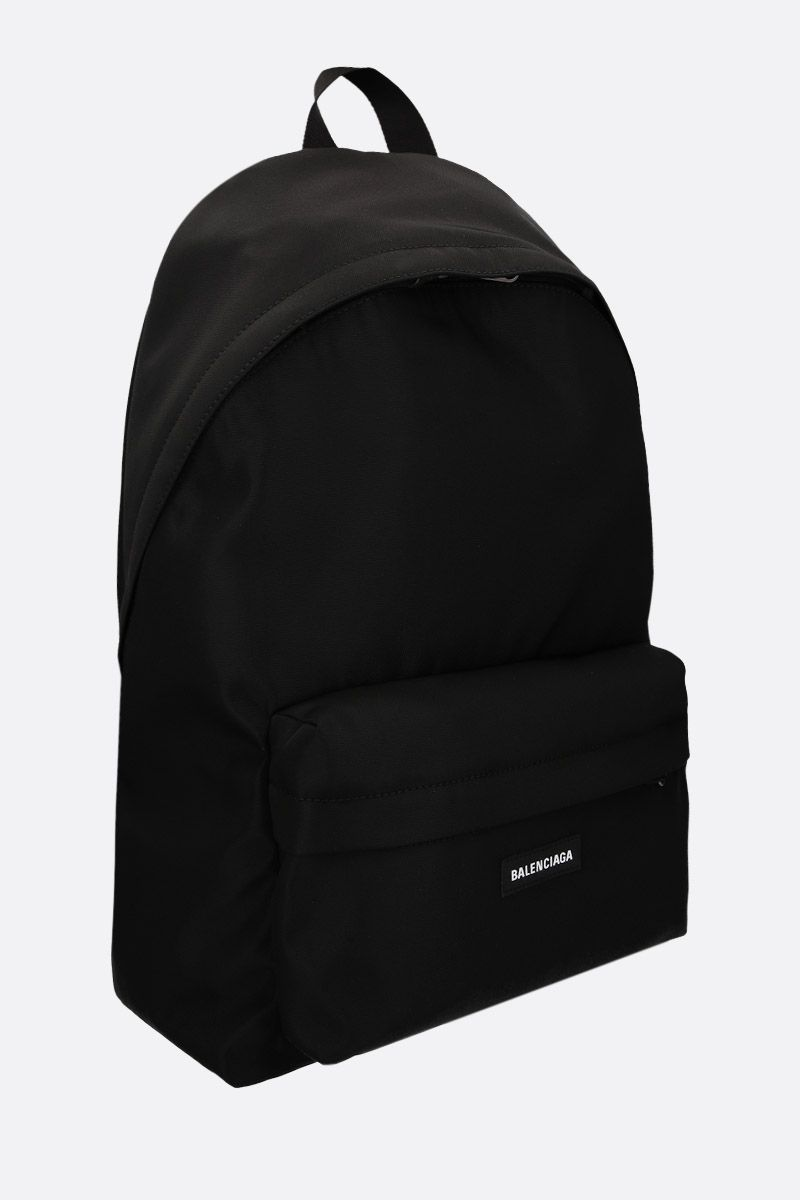 BALENCIAGA: Explorer large nylon backpack Color Black_2