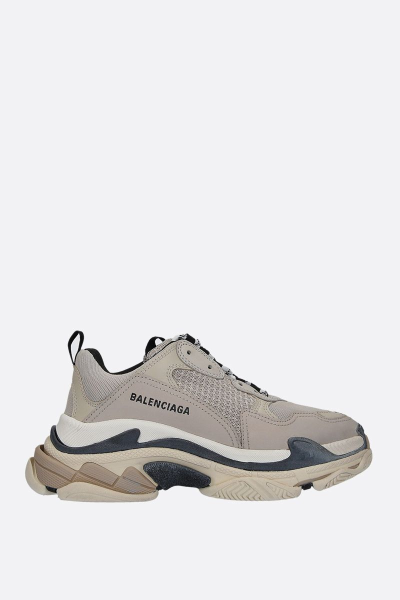 BALENCIAGA: Triples S trainers in smooth leather and mesh Color Multicolor_1