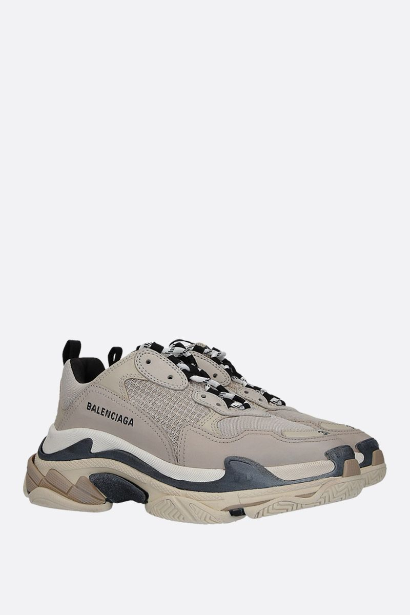 BALENCIAGA: Triples S trainers in smooth leather and mesh Color Multicolor_2