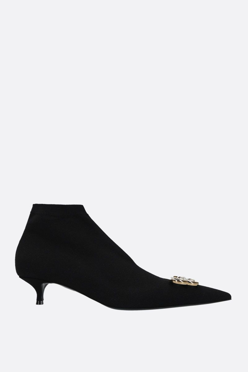 BALENCIAGA: BB ankle boots in stretch knit Color Black_1