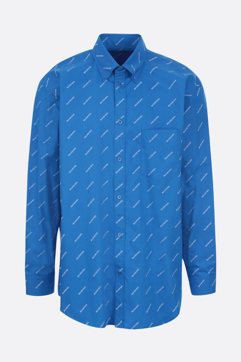 BALENCIAGA: logo print cotton shirt_1