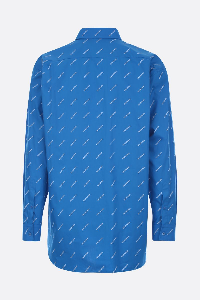 BALENCIAGA: logo print cotton shirt_2