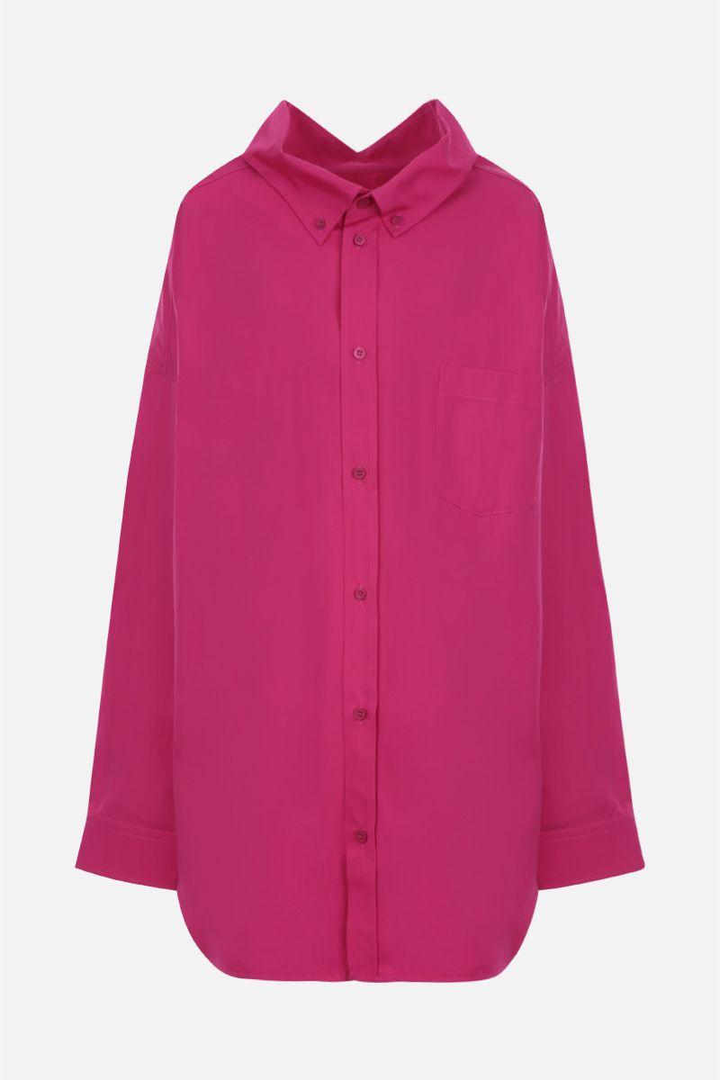 BALENCIAGA: Cocoon Swing cotton oversized shirt Color Red_1
