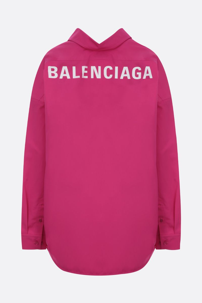 BALENCIAGA: Cocoon Swing cotton oversized shirt Color Red_2