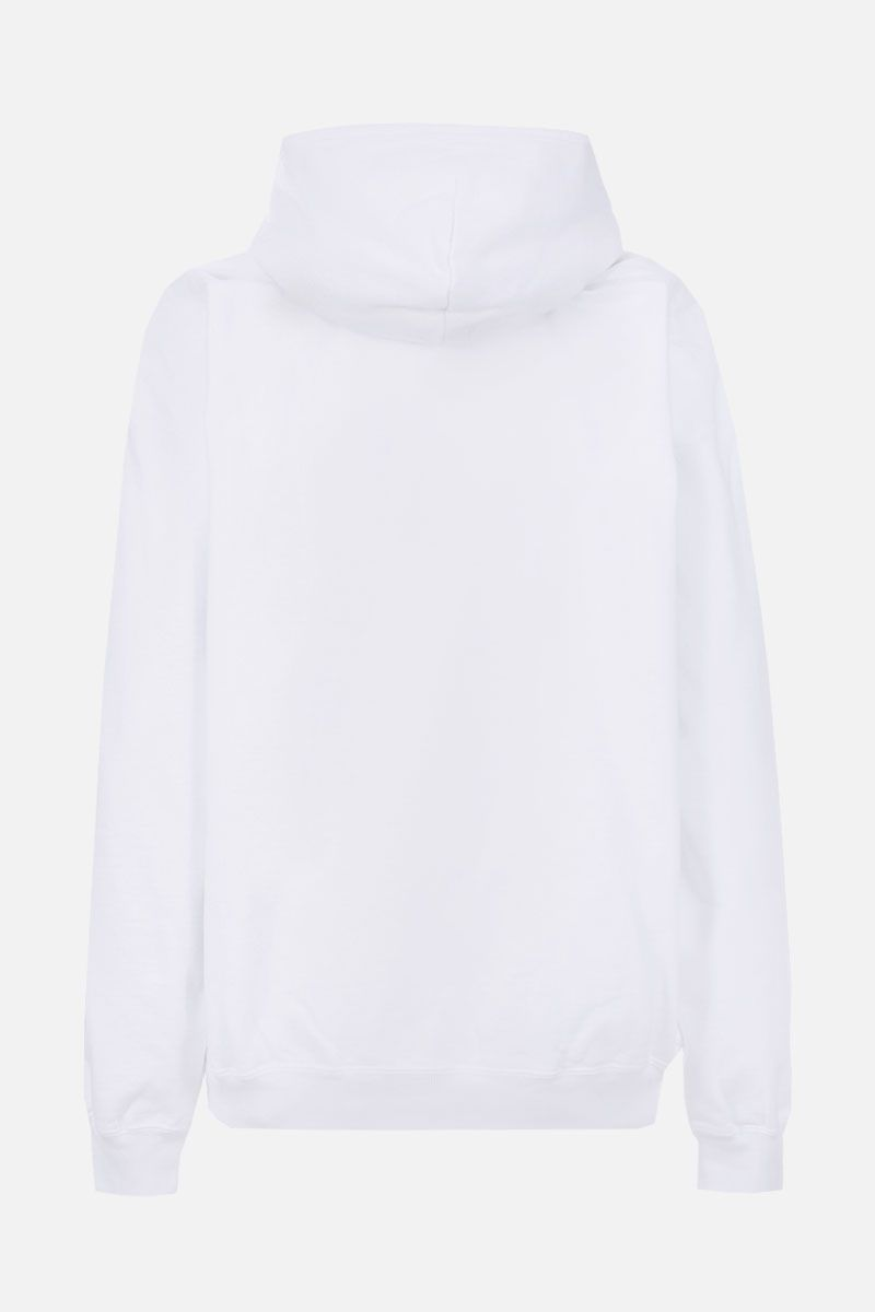 BALENCIAGA: Paris Flag cotton oversize hoodie Color White_2