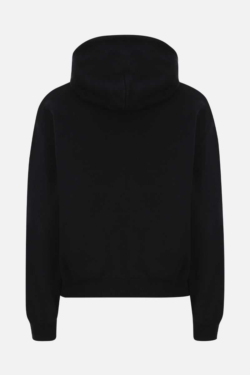 BALENCIAGA: X-Rated print cotton hoodie Color Black_2