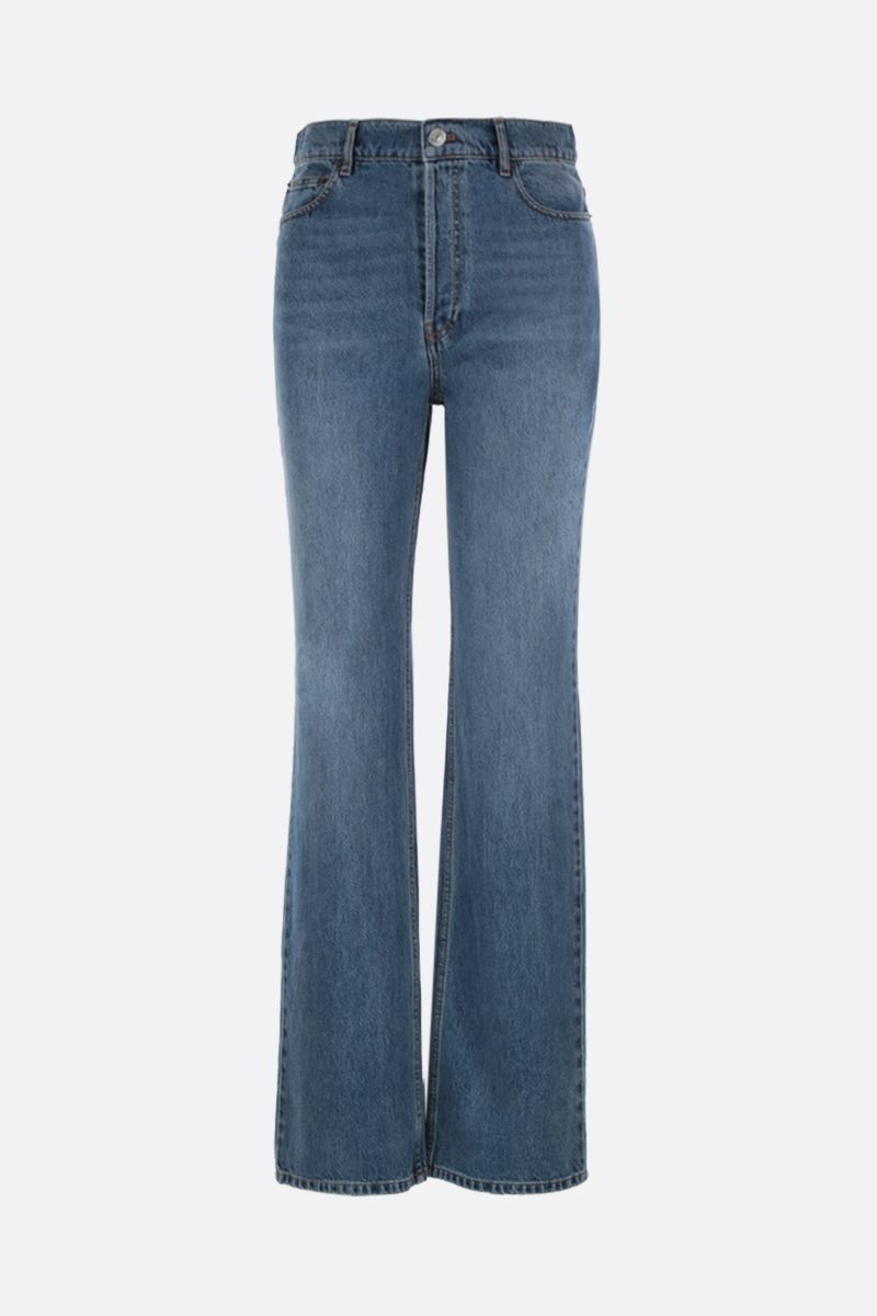 BALENCIAGA: flare jeans Color Blue_1