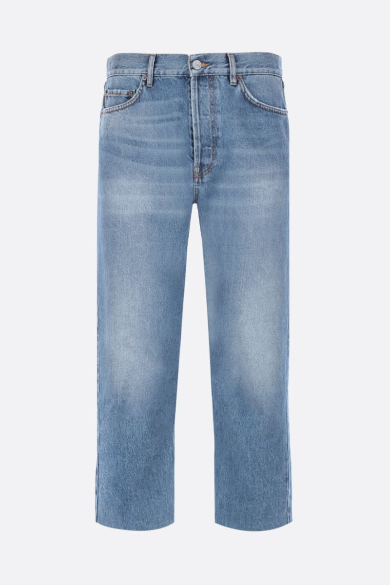 BALENCIAGA: cropped-fit jeans Color Blue_1