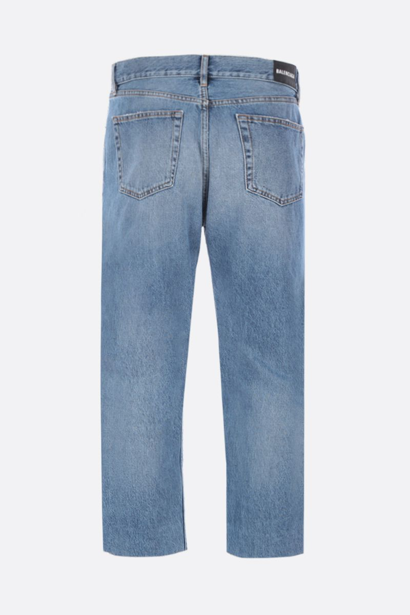 BALENCIAGA: cropped-fit jeans Color Blue_2