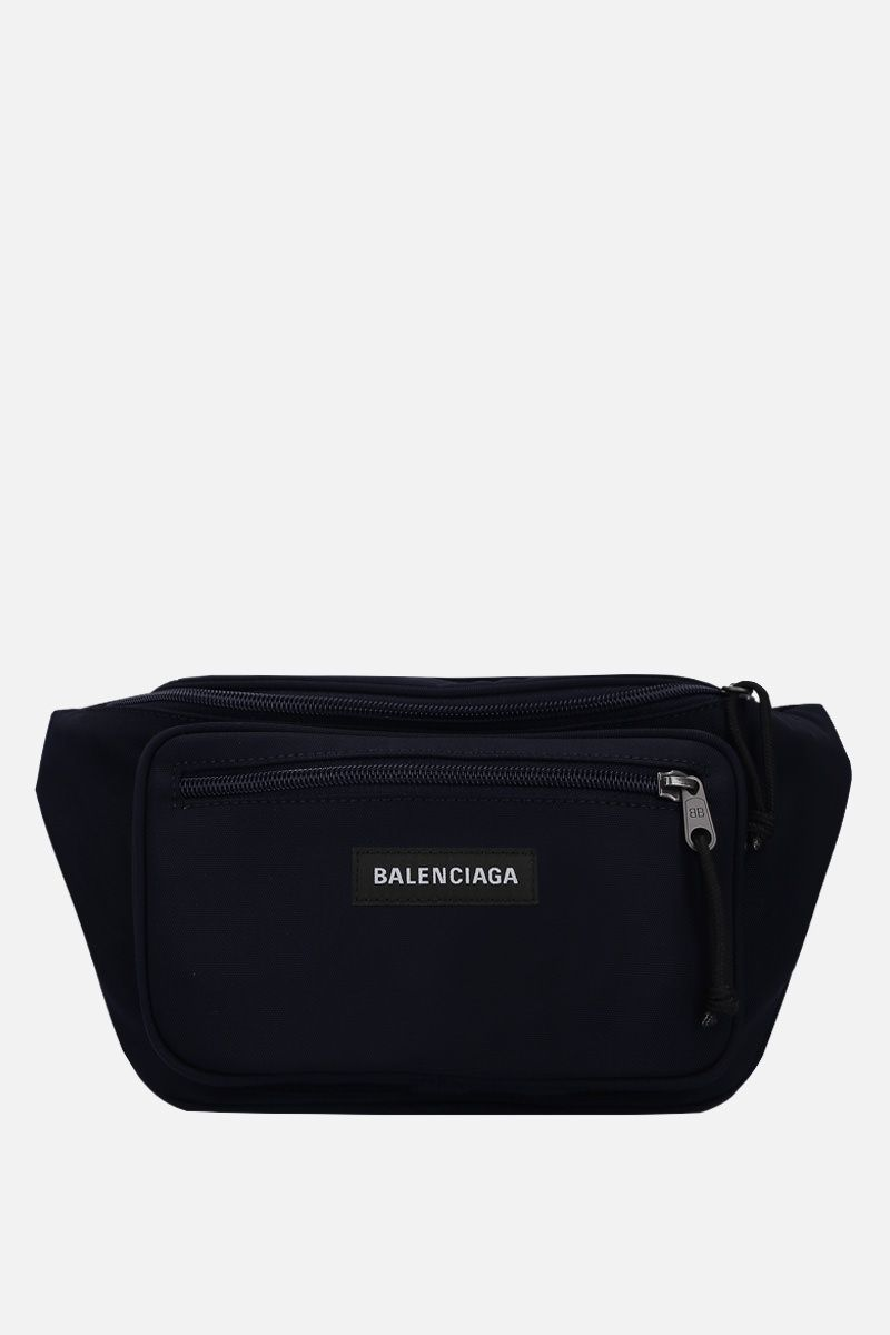 BALENCIAGA: Explorer nylon belt bag Color Blue_1