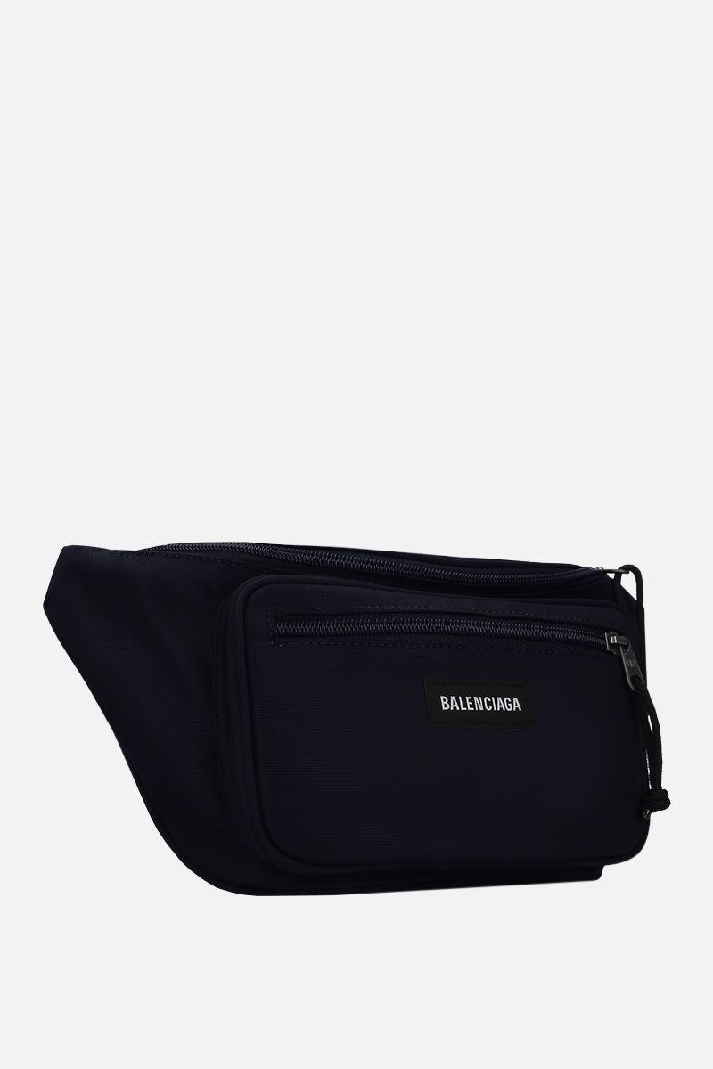BALENCIAGA: Explorer nylon belt bag Color Blue_2