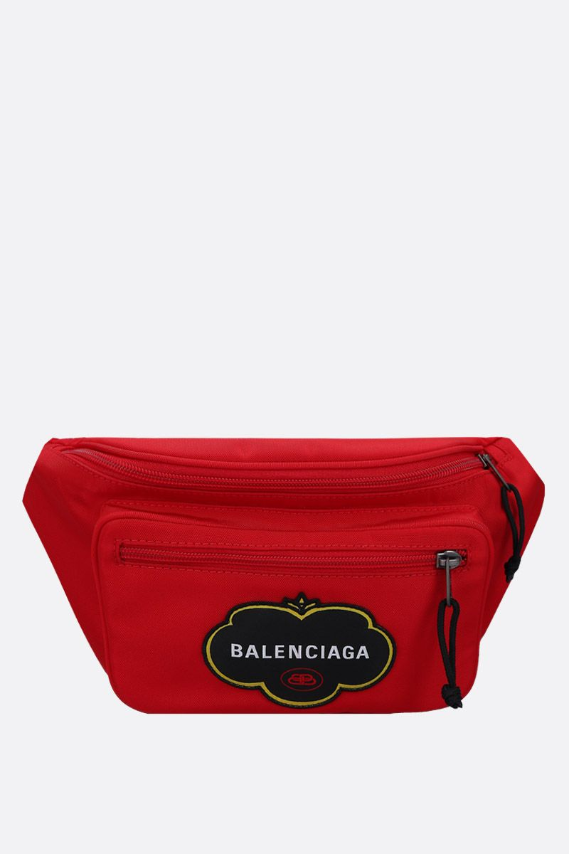 BALENCIAGA: Explorer nylon belt bag Color Red_1