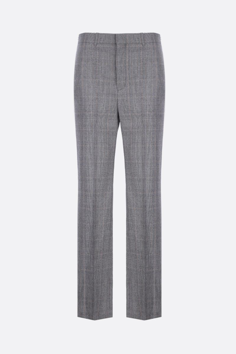 BALENCIAGA: prince of Wales wool straight-fit pants Color Multicolor_1