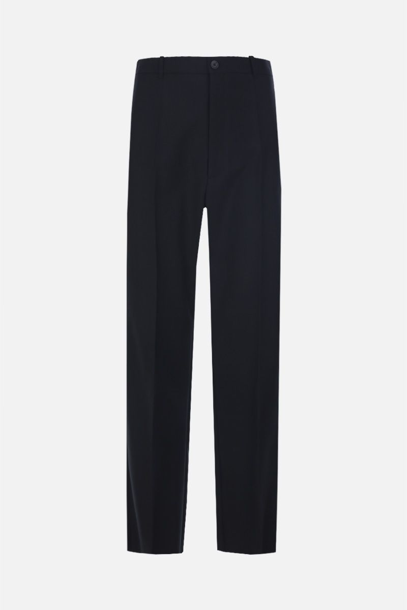 BALENCIAGA: wool blend baggy-fit pants Color Black_1