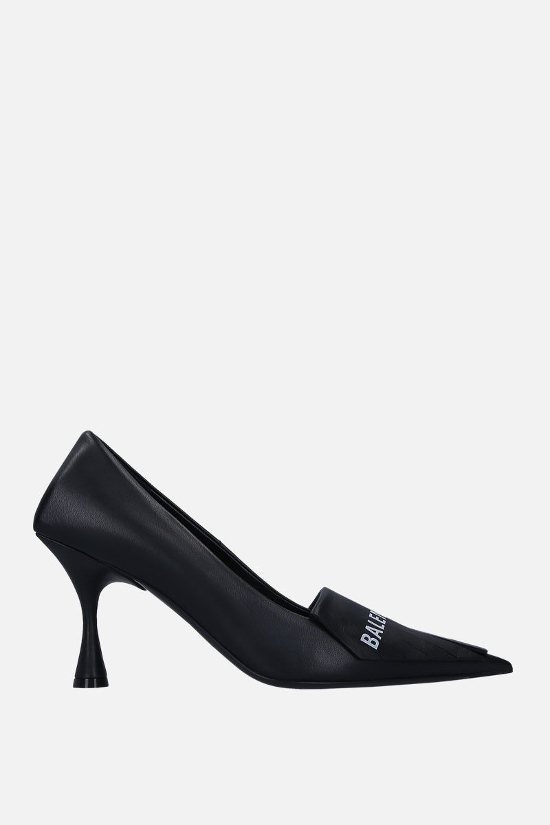 BALENCIAGA: Square Knife pumps in smooth leather Color Black_1