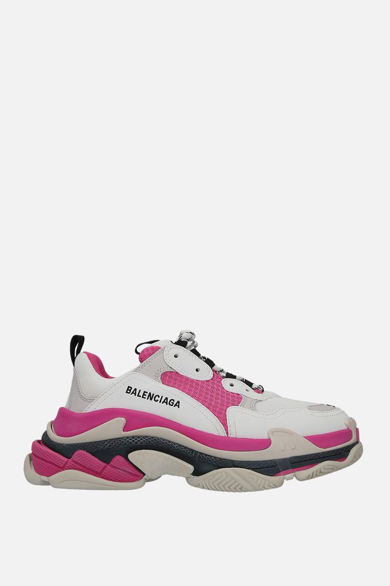 BALENCIAGA: Triples S trainers in smooth leather and mesh_1
