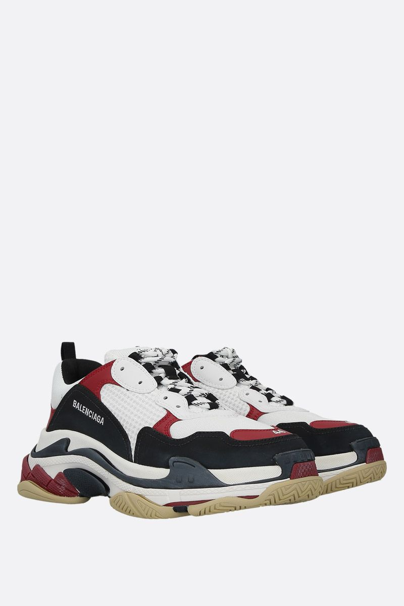 BALENCIAGA: Triple S trainers in smooth leather and mesh_2