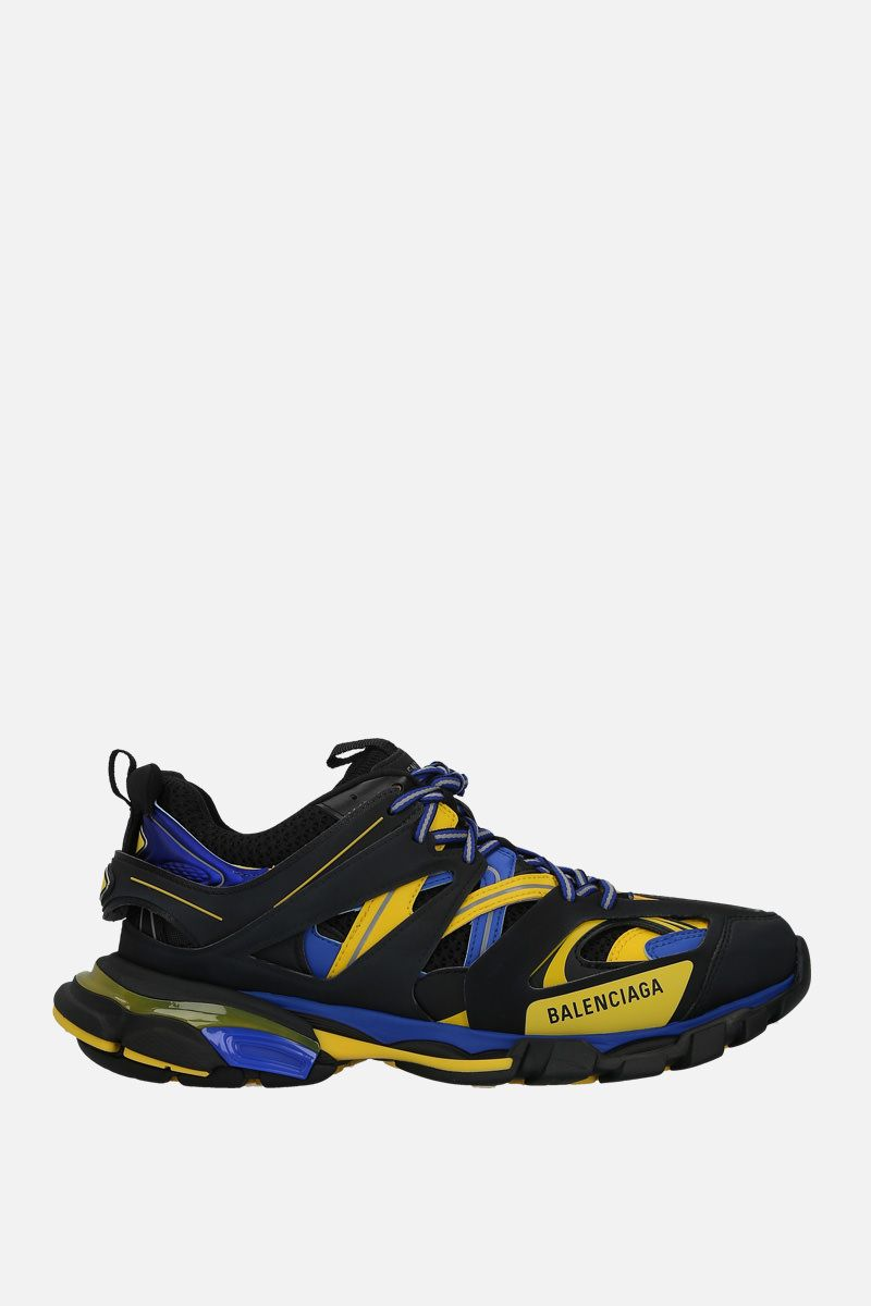 BALENCIAGA: Track sneakers in faux leather and mesh_1