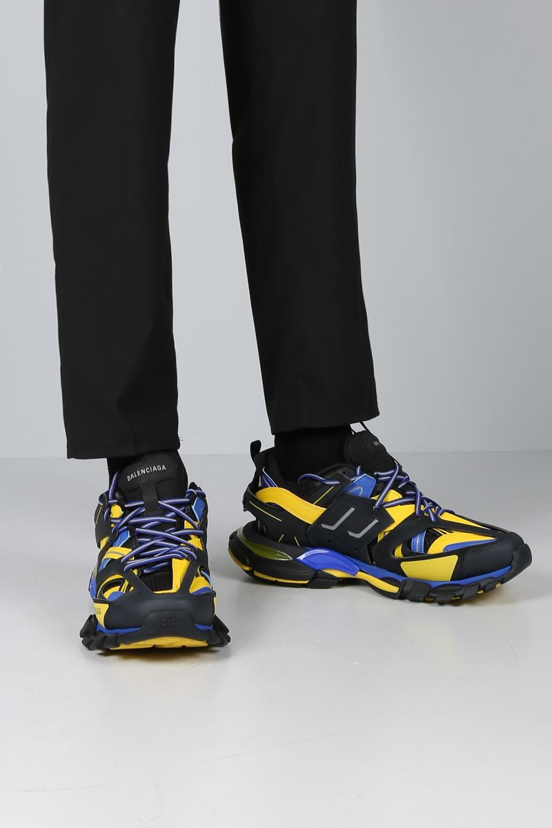 BALENCIAGA: Track sneakers in faux leather and mesh_2